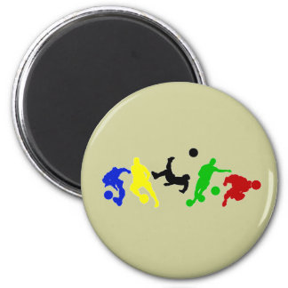 Soccer players   football sports fan magnet