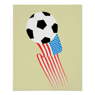Soccer Poster: Gold USA Poster