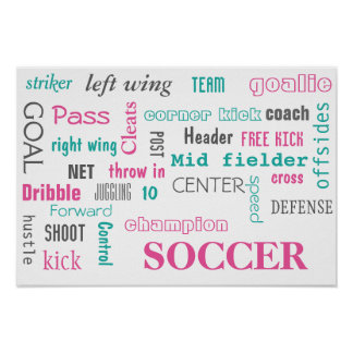 Soccer Poster! Great way to display! Poster