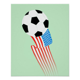 Soccer Poster: Green USA Poster