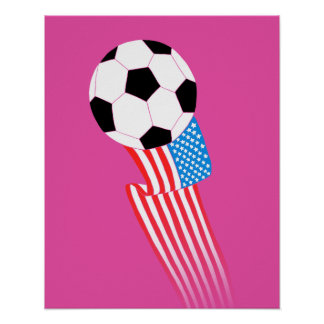 Soccer Poster: Magenta USA Poster