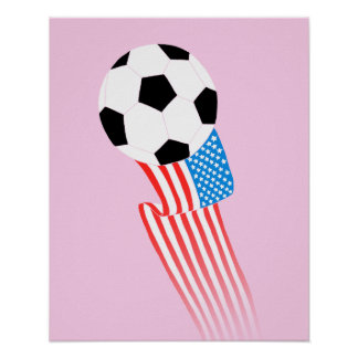 Soccer Poster: Pink USA Poster