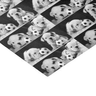 """Soccer Puppies"" English Bulldog Collage Tissue Paper"