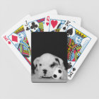 """""""Soccer Puppy"""" English Bulldog Photography Bicycle Playing Cards"""