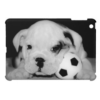 """Soccer Puppy"" English Bulldog Photography iPad Mini Cover"