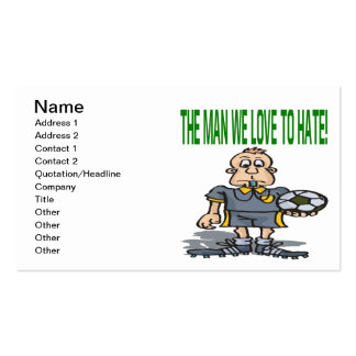 Soccer Referee Pack Of Standard Business Cards