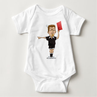 Soccer Referee Holds Red Card Baby Bodysuit