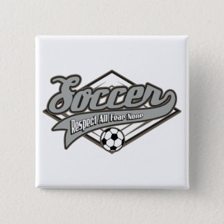 Soccer Respect 2 Inch Square Button