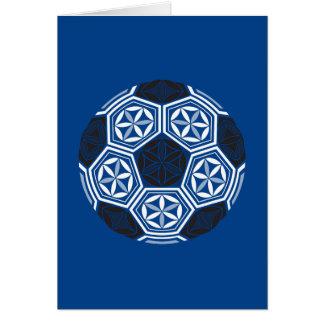 soccer sacred geometry blue card