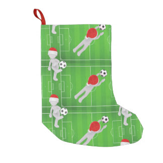 soccer santa christmas stocking