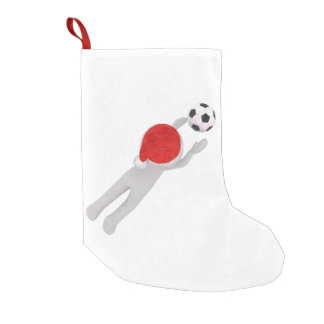 soccer santa claus christmas stocking