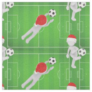 soccer santa fabric