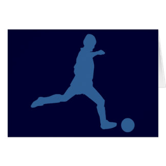Soccer Silhouette Note Cards