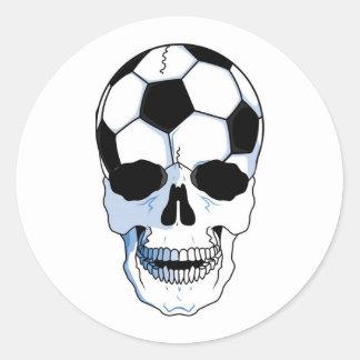 Soccer Skull (Football Skull) Classic Round Sticker