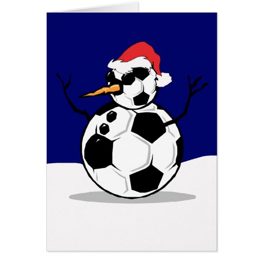 Soccer Snowman Card