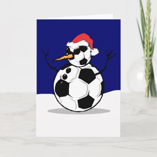 Soccer Snowman Christmas Card