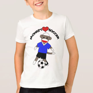 Soccer Sock Monkey (blue) - Kids T-Shirt
