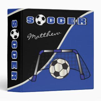 Soccer Sport | Dark Blue | DIY Name Binder
