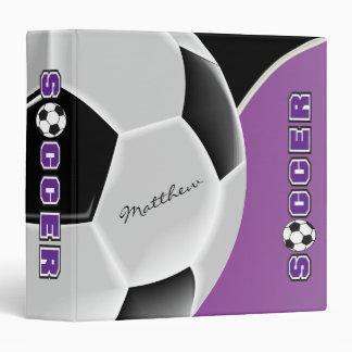 Soccer Sport | Purple | DIY Name Binders