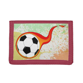 Soccer Sports Art Fun Boy Splatter Paint Destiny Trifold Wallets