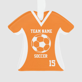 Soccer Sports Jersey Orange with Photo Ornament