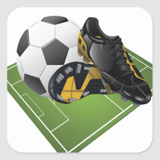 Soccer Square Sticker
