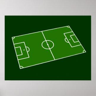 Soccer stadium poster
