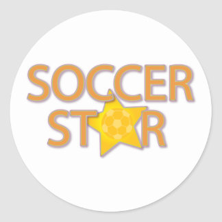 Soccer Star Classic Round Sticker