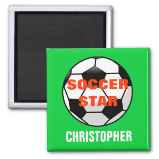 Soccer Star Personalized Magnet