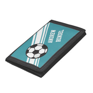 Soccer Stripes Sport Boys Wallet