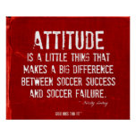 Soccer Success and Attitude Poster Red Denim 009