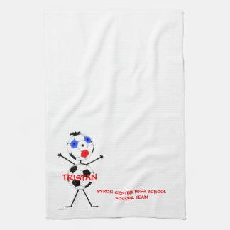 Soccer Team Player Kitchen Towel