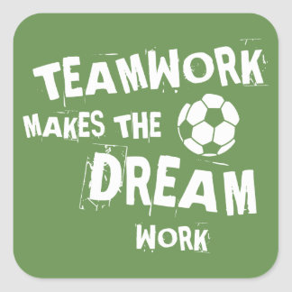 Soccer Teamwork Sticker