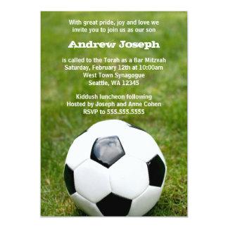 Soccer Themed Bar Mitzvah Card