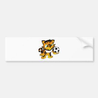 Soccer Tiger Bumper Sticker