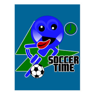 Soccer Time Postcard