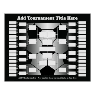 Soccer Tournament Bracket for 32 Teams Poster