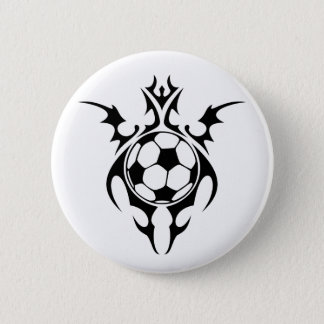 soccer. tribal. 2 inch round button
