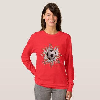 Soccer Tribal Sun Ladies Long Sleeve Shirt