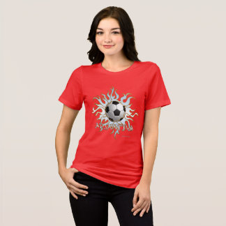Soccer Tribal Sun Ladies Relaxed Fit T-Shirt