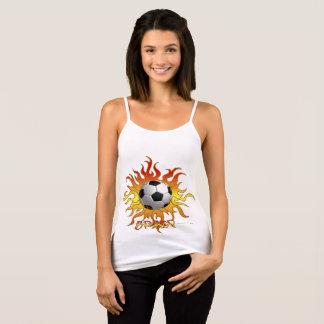 Soccer Tribal Sun Ladies Spaghetti Strap Tank Top