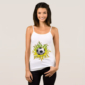 Soccer Tribal Sun Ladies Spaghetti Strap Tank Top