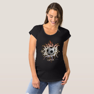 Soccer Tribal Sun Maternity T-Shirt