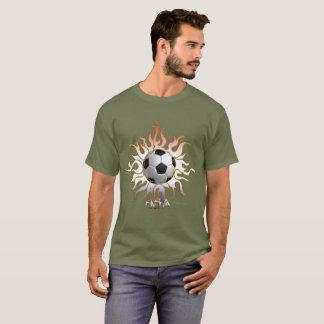 Soccer Tribal Sun Men's Dark T-shirt