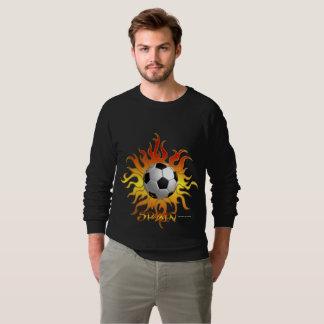 Soccer Tribal Sun Men's Raglan Sweatshirt