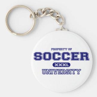 Soccer University Basic Round Button Keychain