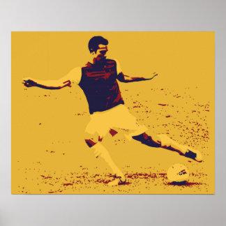 Soccer Vector pastel popart Print