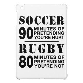 Soccer Vs Rubgy iPad Mini Covers