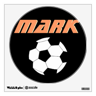 Soccer Wall Decals: Black Soccer Wall Sticker