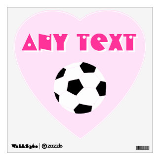 Soccer Wall Decals: Light Pink Wall Sticker